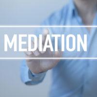 Sign that reads mediation.jpg.crdownload
