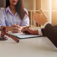 client consulting lawyer for potential case