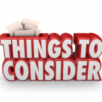 Things to Consider 3d Red Words Remember Important Advice Before Starting